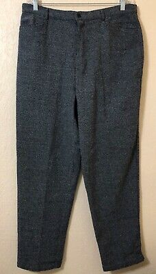 NWT Talbots size 18 Women Pants Trousers Slacks Gray Wool Blend Business/Career