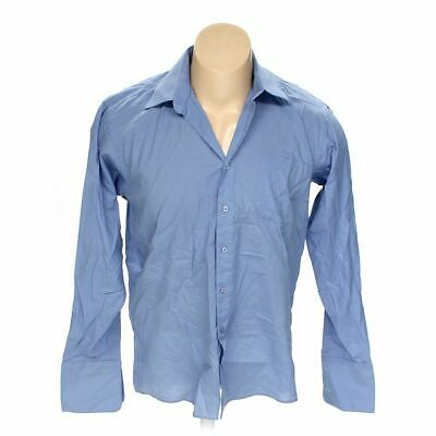 """Linea Uomo Men's  Button-up Long Sleeve Shirt size 48"""" Chest,  blue/navy"""