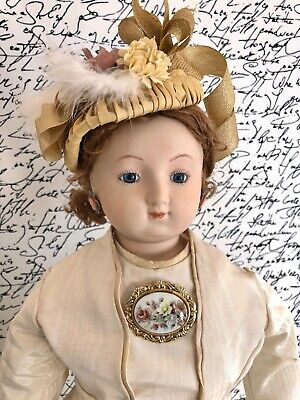 "Large 29.5"" Reproduction of Antique Smiling Bru French Fashion Doll"