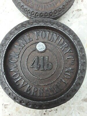 Unusual Antique Cast Iron Weights - with registered design Lozenge