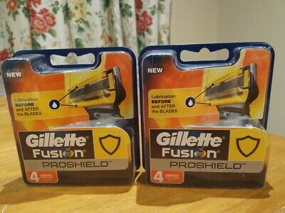 2 x Packs Gillette Fusion Proshield Razor Blades 4 Pack (New and sealed)