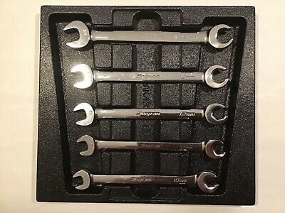 SNAP ON RXSM605B~5 Pc Flare Nut/Open End 6 Point Set W/Tray~10mm-14mm~FREE SHIP!