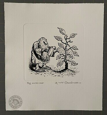 Robert Crumb Etching Mr. Natural The Caring Tree Signed/ Number Printer's Proof