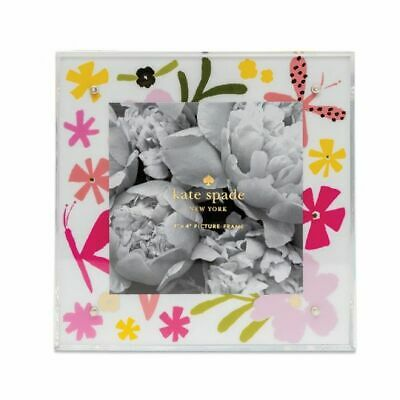 """Kate Spade NY Baby Girl Picture Frame, fits 4""""x4"""" photo, NIB, Retails for $35"""