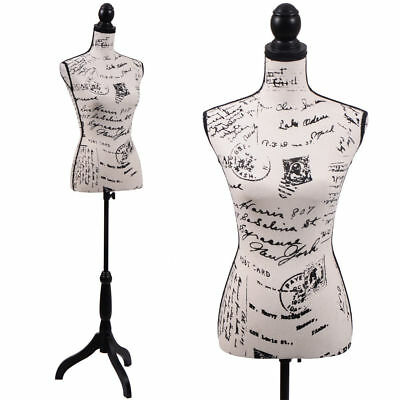 Professional Female Mannequin Torso Dress Form Clothing Display w/ Tripod Stand