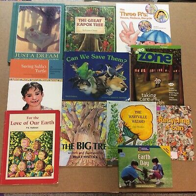 Earth Day Recycling Green Lot 11 Children's Picture Books Trees Environmentalism