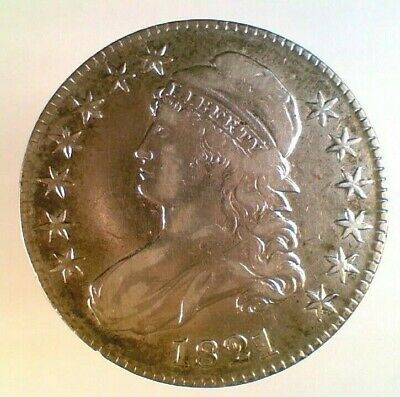 1821 Capped Bust Silver Half Dollar (003)