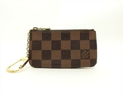 Louis Vuitton Authentic Damier Key Chain Coin Purse Wallet Auth LV