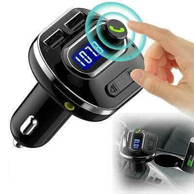 Wireless Bluetooth Auto Handsfree Car Audio Receiver FM Adapter USB Charger top