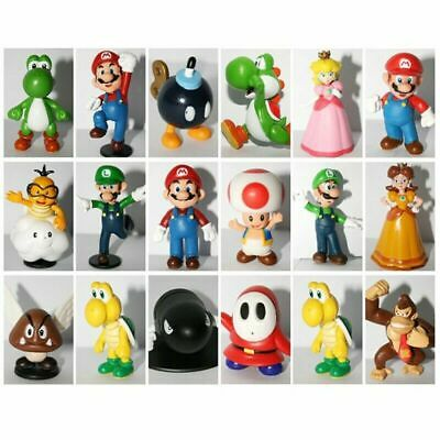 18pcs Super Mario Bros PVC Action Figure Doll Playset Figurine Toy Model Gift