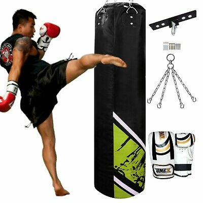 5ft Kick Boxing Heavy MMA Training Hanging Punch Bag Chain Muay Thai Martial