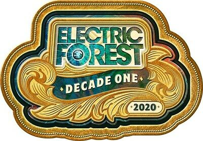 FACE VALUE (2) Electric Forest Wristbands Tickets CAMP GOOD TIMES EARLY WEDS