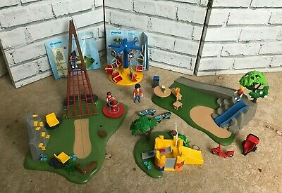 Playmobil 5024 4015 Playground and Zipslide + figures and accessories