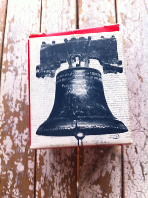 """""""An Authentic Replica of the Liberty Bell"""" Vtg ©1975 Historical Souvenir Co. US"""