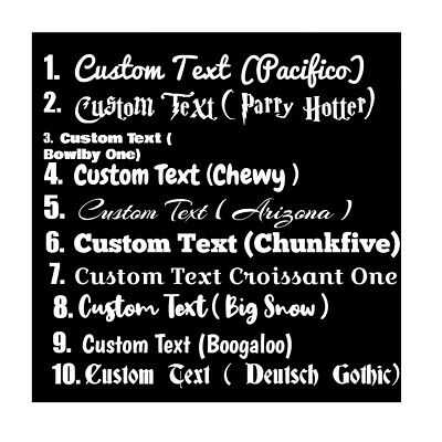 CUSTOM TEXT Personalised Name Lettering Funny Car//Van//Window Shop Decal Sticker