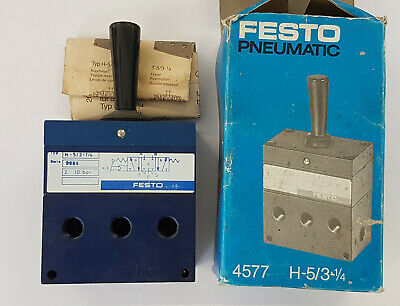 Festo H-5/3-1/4 4577 Kniehebelventil - New/Boxed Worldwide Shipping