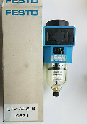 Festo LF-1/4-S-B 10631 Air Filter New Boxed Worldwide Shipping, Tax, Invoice