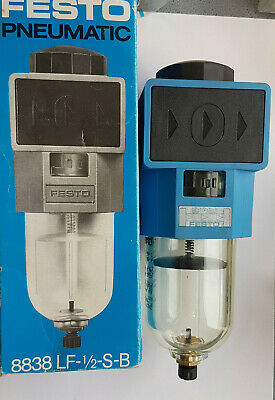 Festo LF-1/2-S-B 8838 Air Filter New Boxed Worldwide Shipping, Tax, Invoice