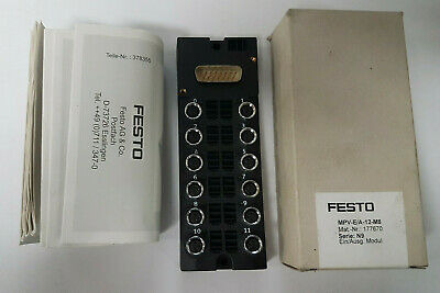 Festo Mpv-E / A 12 M8 177670 Ein / Output Module - New/Boxed - Worldwide