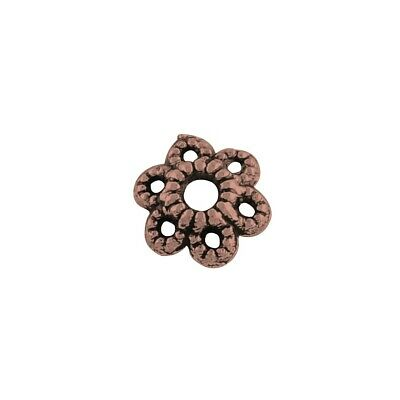 Flower Bead Caps Red Copper Metal Alloy 1.5x6mm  200+ Pcs Findings Jewellery