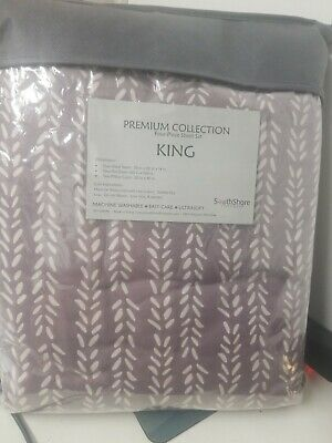 Southshore Premium Collection Four Pieces Sheet Set King Size #2370-A1
