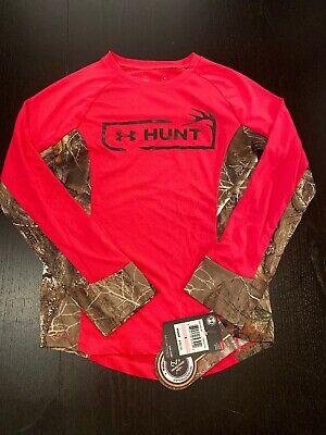 Under armour Girls Realtree Pink Long Sleeve Shirt Top Sz 6 NWT NEW $35
