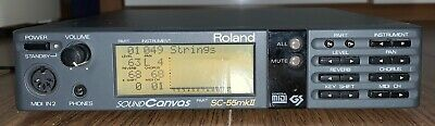 Roland SC-55 mk2 Sound Canvas MIDI Synthesizer module - Fully Operational