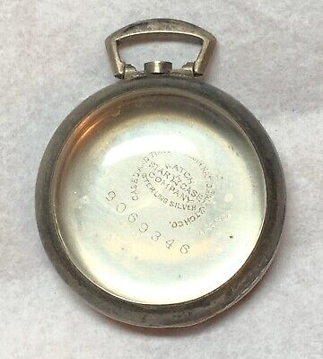 Elgin 8/0 Size Open Face 1920s Sterling Silver Nuns Antique Pocket Watch Case