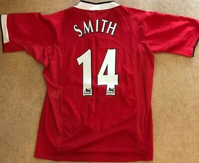 Manchester United Man Utd 2004 - 2006 Home Shirt/ Smith 14/ Large (L) MINT