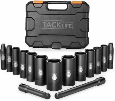 3/8-Inch Drive Deep Impact Socket Set, SAE, CR-V Steel, 6-Point