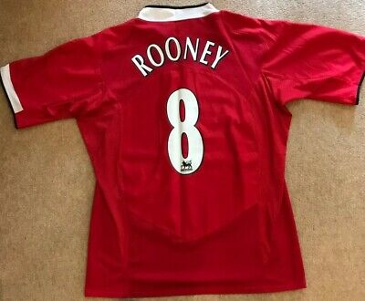 Manchester United Man Utd 2004 - 2006 Home Shirt/ Rooney 10/Large (L)