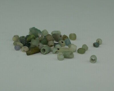 Ancient Roman Green Glass Beads Circa 2Nd Century Ad  910