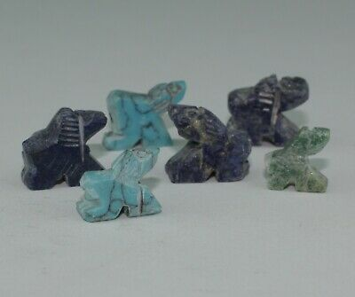 6 X Ancient Bactrian Amulets,  Circa 1000Bc   0761