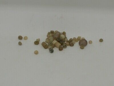 Ancient Roman Gold Colour Glass Beads Circa 2Nd Century Ad - 012