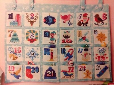(X5) Emma Congdon Festive Motifs Advent Calendar Christmas Cross Stitch Chart