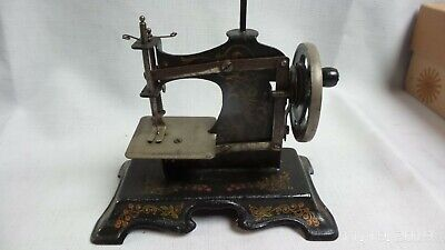 ANTIQUE West GERMANY toy TINPLATE miniature model SEWING MACHINE C 1890
