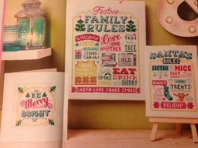 (X5) Emma Congdon Festive Samplers And Card Christmas Cross Stitch Chart