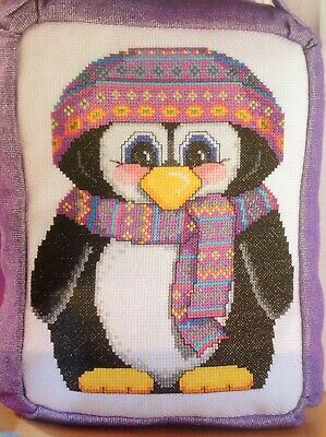 (X5) Cute Festive Penguin Hat And Scarf Christmas Cross Stitch Chart