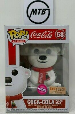 Funko Pop Ad Icons Coca Cola Polar Bear 58 Flocked Shop Boxlunch Exclusive