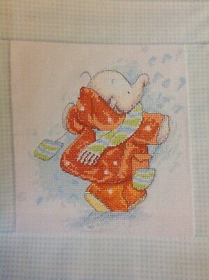 (X5) Humphrey's Corner Elephant In Snow Christmas Cross Stitch Chart