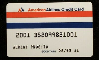 American Airlines credit card exp 1993♡free ship♡cc1194♡rare♡