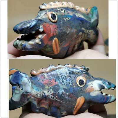 Antique Wonderful Big 11 cm Mosaic Big Fish Rare bead # 141