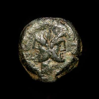 *Lucernae* Republic - C. Vibius C.f. Pansa Æ As ROMA Three prows Rome 90 B.C.