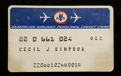 American Airlines Personal credit card♡free ship♡cc1195♡rare♡