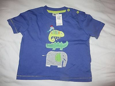 boys boy t-shirt top 12 - 18 months brand new with tags navy animals