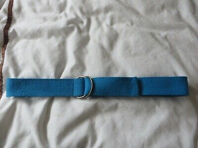 boys boy belt  age 11 years turquoise canvas