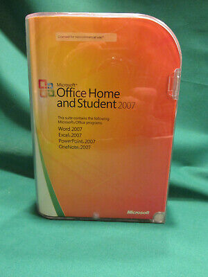 Microsoft Office 2007 Home and Student - contains 4 Microsoft Office programs