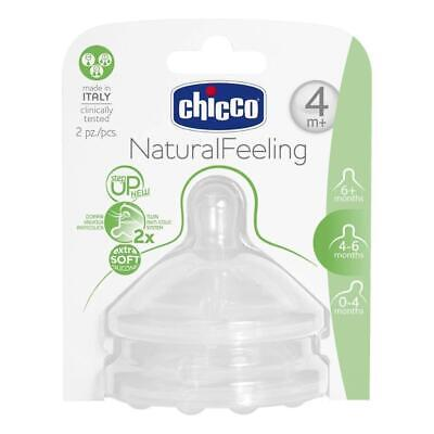 Coppia Tettarelle Silicone Chicco Step Up Natural Feeling 4 Mesi +