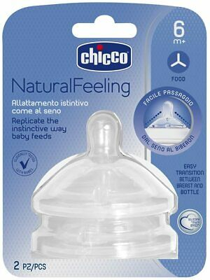 Coppia Tettarelle Silicone Chicco Step Up Natural Feeling 6 Mesi +