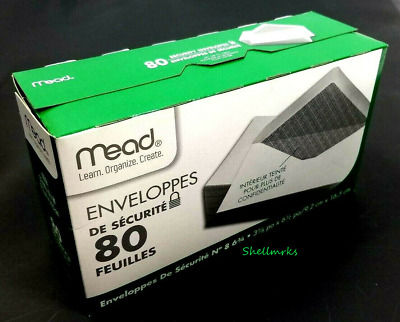 """Mead Security Envelopes 2 boxes 160 Count #75212 Home Office 3 5/8"""" x 6 1/2"""""""